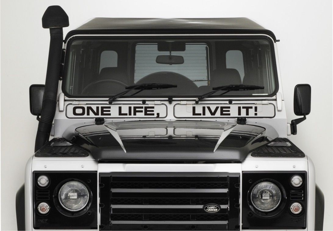 Land Rover Defender Air Vent One Life Live It Sticker